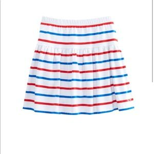 Vineyard vines girls knit pull on stripe skirt NWT
